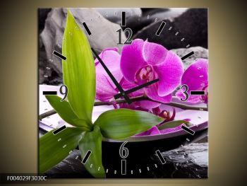 Obraz fialových orchidejí v míse (F004029F3030C)