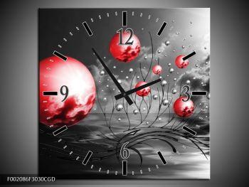 Moderní obraz - červené koule (F002086F3030CGD)