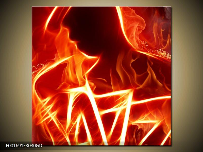 Obraz ohnivé postavy (F001691F3030GD)