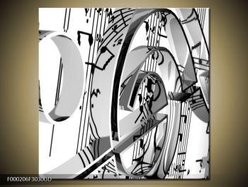 Moderní obraz houslového klíče (F000206F3030GD)