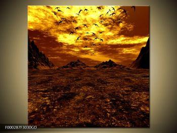 Obraz vyprahlého údolí (F000287F3030GD)