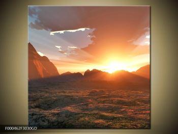 Obraz západu slunce (F000462F3030GD)