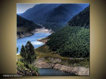 Obraz řeky a hor (F000615F3030GD)