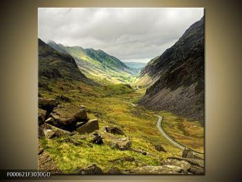Obraz cesty uprostřed hor (F000621F3030GD)