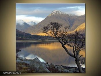 Obraz hor u jezera (F000686F3030GD)