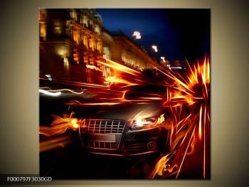 Obraz jedoucího auta (F000797F3030GD)