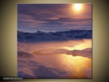 Krásný obraz zimní krajiny (F000939F3030GD)