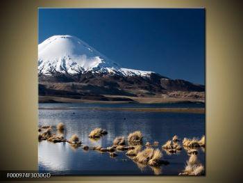 Obraz zasněžené hory (F000974F3030GD)