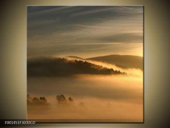 Obraz hor v mlze (F001451F3030GD)