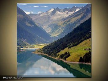Obraz horského údolí (F001494F3030GD)