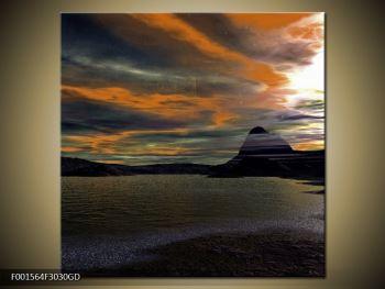 Obraz moře v temné obloze (F001564F3030GD)