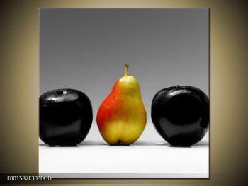 Obraz dvou jablek a hrušky (F001587F3030GD)