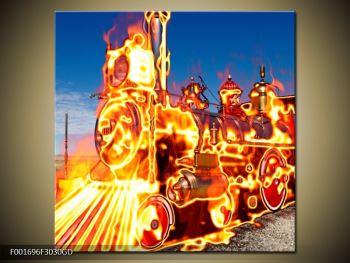 Obraz ohnivé lokomotivy (F001696F3030GD)