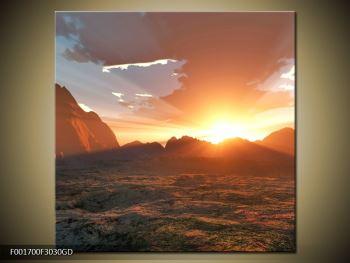 Obraz západu slunce nad horama (F001700F3030GD)