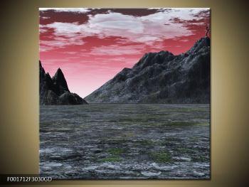 Obraz skalnaté přírody (F001712F3030GD)