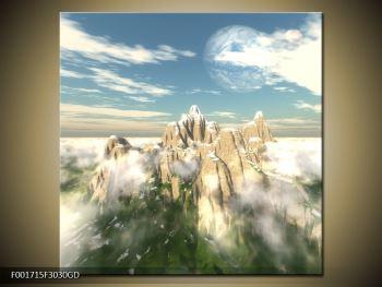 Obraz zasněžených vrcholů skal (F001715F3030GD)