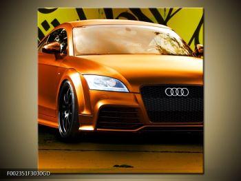 Obraz oranžové Audi (F002351F3030GD)