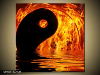 Obraz hořícího Jin Jangu  (F002885F3030GD)