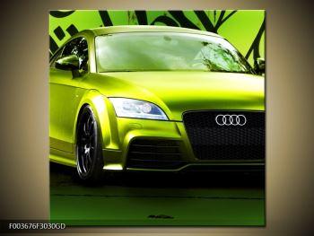 Obraz zelené Audi  (F003676F3030GD)