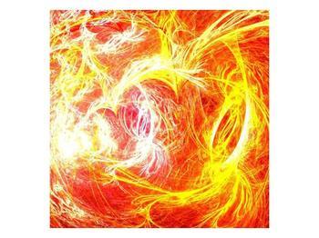 Abstraktní oranžový obraz (F000152F4040)