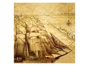 Obraz staré mapy (F000696F4040)
