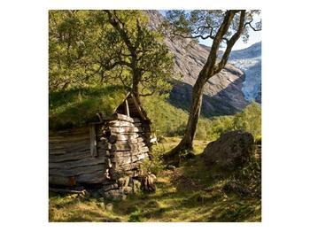 Obraz horské chatrče (F001636F4040)