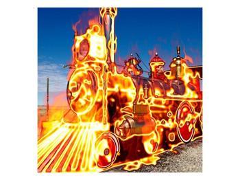 Obraz ohnivé lokomotivy (F001696F4040)