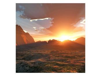 Obraz západu slunce nad horama (F001700F4040)