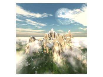 Obraz zasněžených vrcholů skal (F001715F4040)