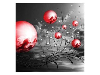 Moderní obraz - červené koule (F002086F4040)