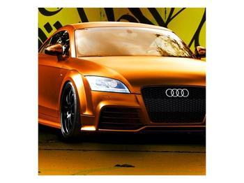 Obraz oranžové Audi (F002351F4040)
