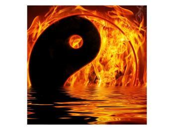 Obraz hořícího Jin Jangu  (F002885F4040)