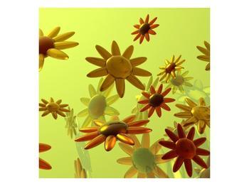 Moderní obraz skleněných květů  (F004007F4040)