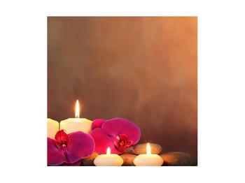 Tablou relaxant cu lumănâri și orhidee (K011120K4040)