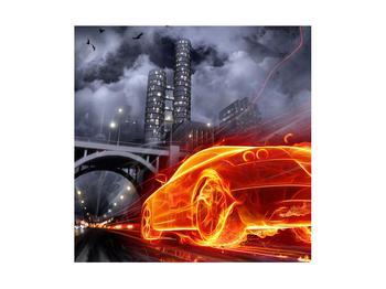 Tablou cu mașina arzând (K011167K4040)