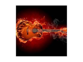 Lángoló gitár képe (K011168K4040)
