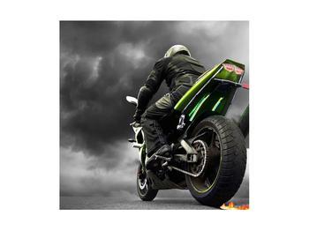 Tablou cu motociclist pe motocicletă (K011383K4040)