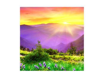 Obraz horské krajiny s východem slunce (K011873K4040)