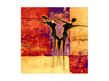 Tablou abstract cu doi dansatori (K011975K4040)