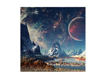 Tablou cu peisaj montan cu planete (K012168K4040)