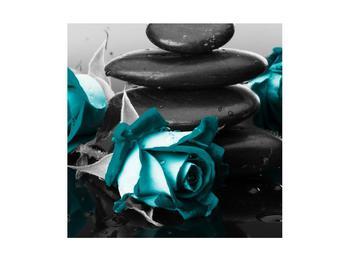 Tablou cu trandafiri albastre (K012553K4040)