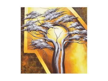 Orientální obraz stromu a slunce (K014067K4040)