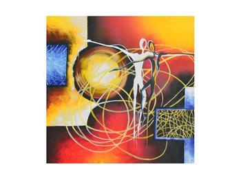 Abstraktní obraz tanečníků (K014151K4040)