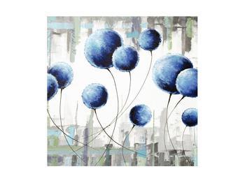Abstraktní obraz - modré balónky (K014707K4040)