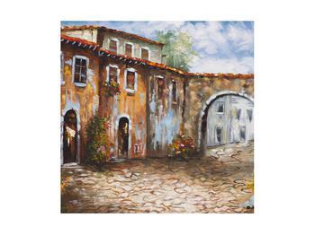 Obraz malované středomořské uličky (K014855K4040)