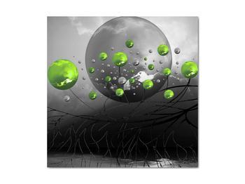 Obraz zelených abstraktných gulí (V020103V4040)