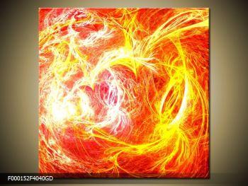 Abstraktní oranžový obraz (F000152F4040GD)