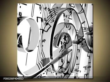 Moderní obraz houslového klíče (F000206F4040GD)