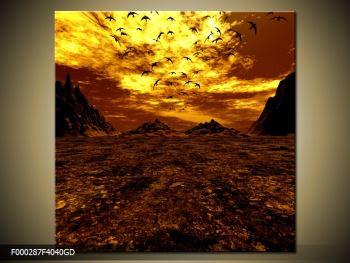 Obraz vyprahlého údolí (F000287F4040GD)