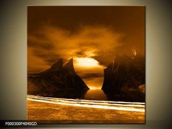 Obraz skály a pláže (F000300F4040GD)